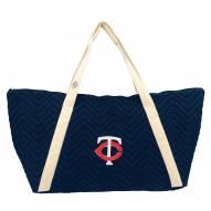 Minnesota Twins Chevron Stitch Weekender Bag