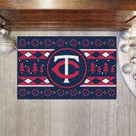 Minnesota Twins Christmas Sweater Starter Rug