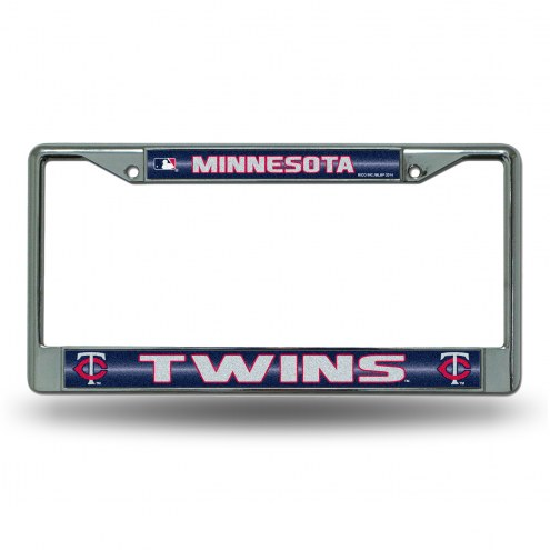 Minnesota Twins Chrome Glitter License Plate Frame