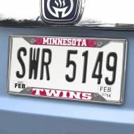 Minnesota Twins Chrome Metal License Plate Frame