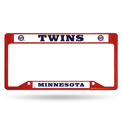 Minnesota Twins Colored Chrome License Plate Frame