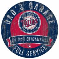 Minnesota Twins Dad's Garage Sign