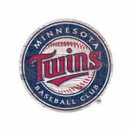 Minnesota Twins Distressed Logo Cutout Sign