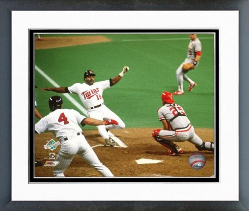 Minnesota Twins Don Baylor 1987 World Series Action Framed Photo