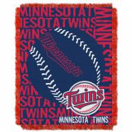Minnesota Twins Double Play Jacquard Throw Blanket
