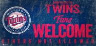Minnesota Twins Fans Welcome Sign
