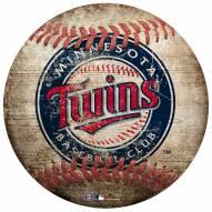 Minnesota Twins Baseball Shaped Sign