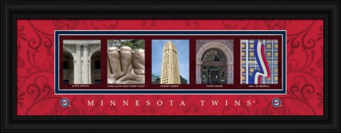 Minnesota Twins Framed Letter Art