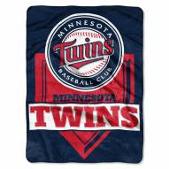 Minnesota Twins Home Plate Plush Raschel Blanket