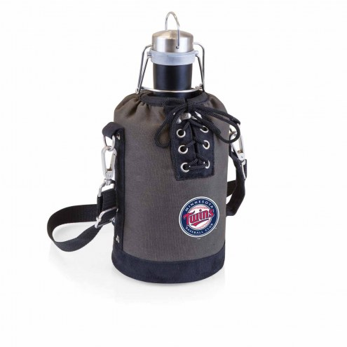 Minnesota Twins Insulated Growler Tote with 64 oz. Stainless Steel Growler