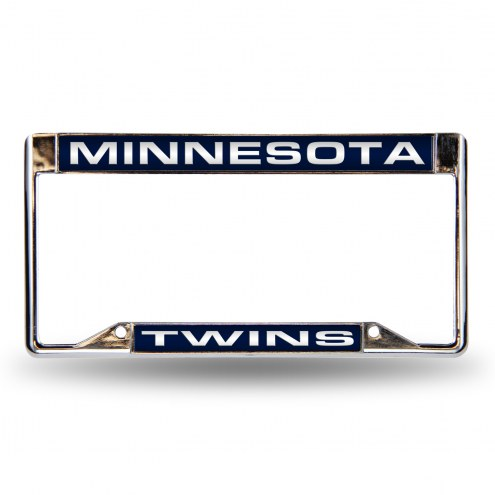 Minnesota Twins Laser Chrome License Plate Frame