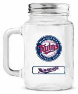 Minnesota Twins Mason Glass Jar