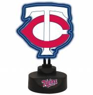 Minnesota Twins Team Logo Neon Light