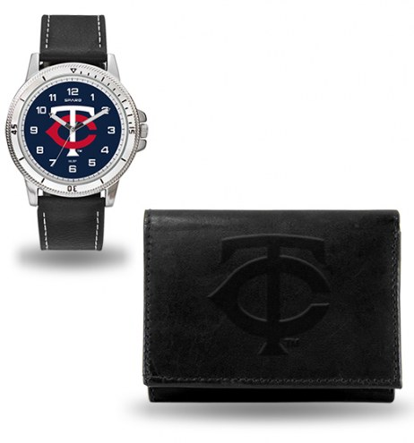 Minnesota Twins Men's Chicago Watch & Wallet Set