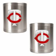 Minnesota Twins MLB Stainless Steel Can Holder 2-Piece Set