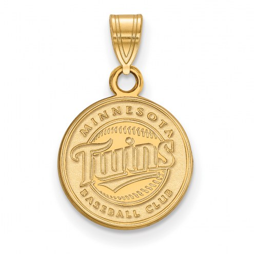 Minnesota Twins MLB Sterling Silver Gold Plated Small Pendant