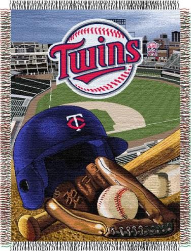 Minnesota Twins MLB Woven Tapestry Throw Blanket