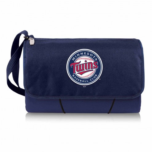 Minnesota Twins Navy Blanket Tote