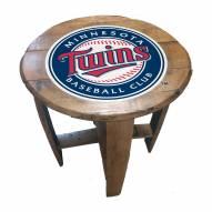 Minnesota Twins Oak Barrel Table