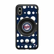 Minnesota Twins OtterBox Symmetry Polka Dot PopSocket iPhone Case