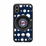Minnesota Twins OtterBox Symmetry Polka Dot PopSocket iPhone Case