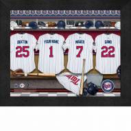 Minnesota Twins  Personalized Locker Room 11 x 14 Framed Photograph