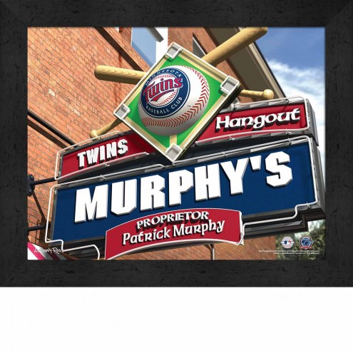 Minnesota Twins 11 x 14 Personalized Framed Sports Pub Print