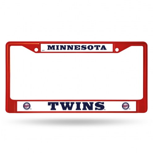 Minnesota Twins Red Colored Chrome License Plate Frame