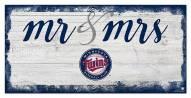 Minnesota Twins Script Mr. & Mrs. Sign