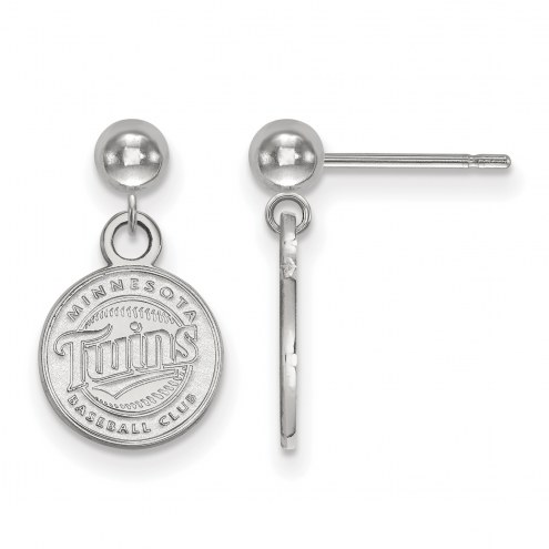 Minnesota Twins Sterling Silver Dangle Ball Earrings