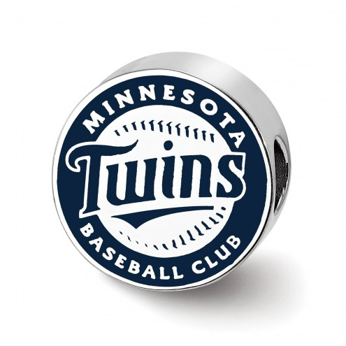 Minnesota Twins Sterling Silver Enameled Bead