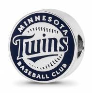 Minnesota Twins Sterling Silver Enameled Bead