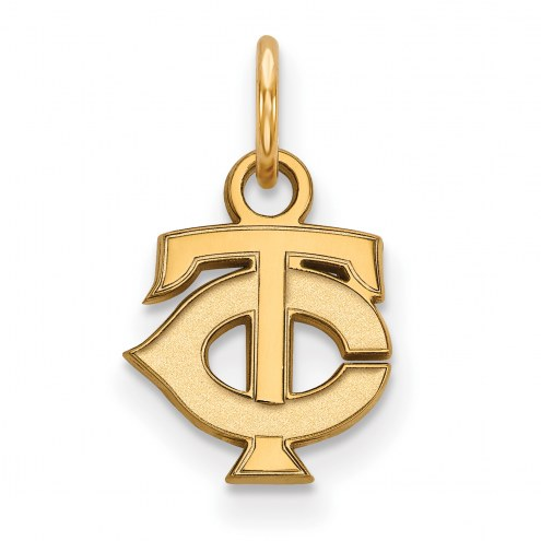 Minnesota Twins Sterling Silver Gold Plated Extra Small Pendant