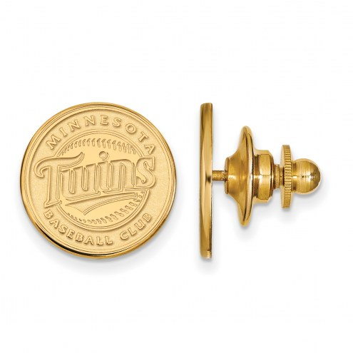 Minnesota Twins Sterling Silver Gold Plated Lapel Pin