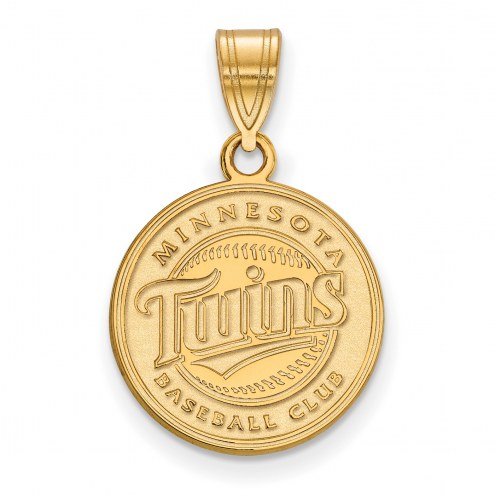 Minnesota Twins Sterling Silver Gold Plated Medium Pendant