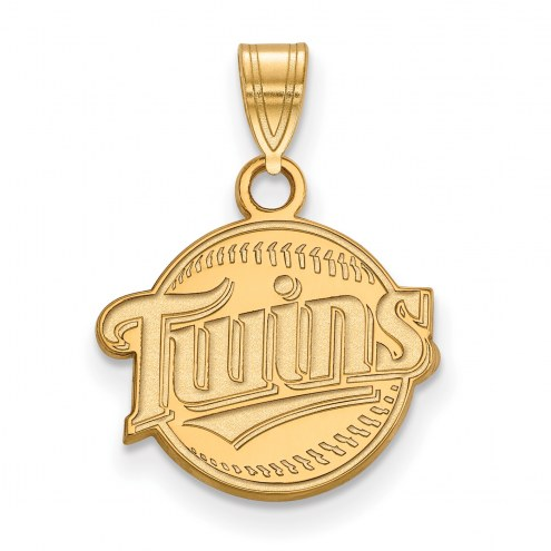 Minnesota Twins Sterling Silver Gold Plated Small Pendant