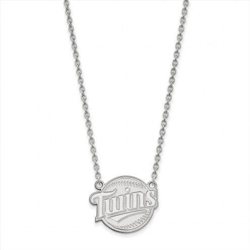 Minnesota Twins Sterling Silver Large Pendant Necklace