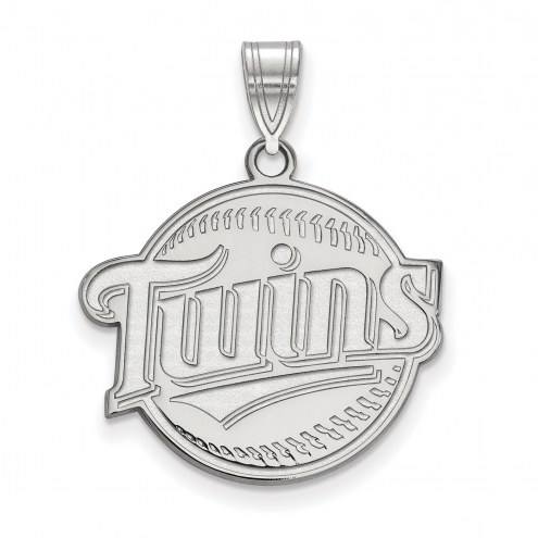 Minnesota Twins Sterling Silver Large Pendant