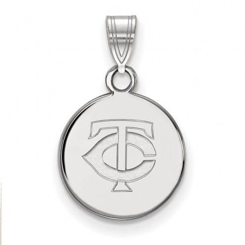 Minnesota Twins Sterling Silver Small Disc Pendant