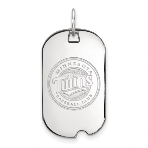 Minnesota Twins Sterling Silver Small Dog Tag