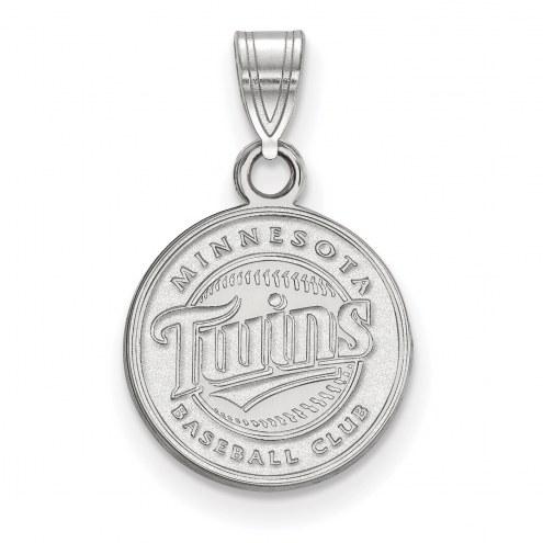 Minnesota Twins Sterling Silver Small Pendant