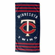 Minnesota Twins Stripes Beach Towel