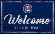 Minnesota Twins Team Color Welcome Sign