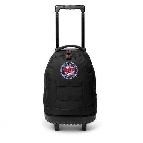 MLB Minnesota Twins Wheeled Backpack Tool Bag