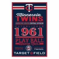Minnesota Twins Established Wood Sign