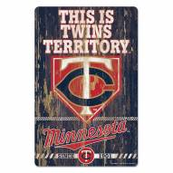 Minnesota Twins Slogan Wood Sign