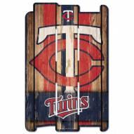Minnesota Twins Wood Fence Sign