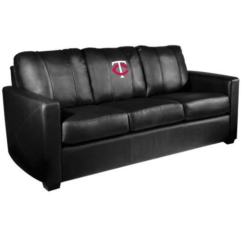 Minnesota Twins XZipit Silver Sofa with Secondary Logo