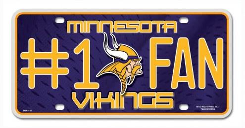 Minnesota Vikings #1 Fan License Plate