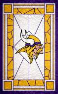 """Minnesota Vikings 11"""" x 19"""" Stained Glass Sign"""